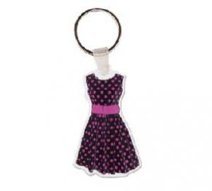 Polka Dot Dress Soft Vinyl Keychain