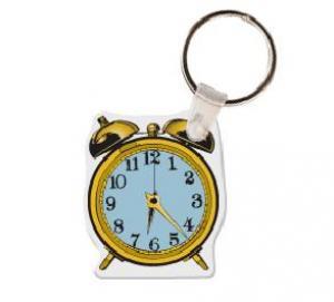 Alarm Clock Soft Vinyl Keychain