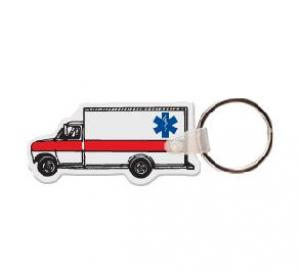 Ambulance Soft Vinyl Key Tag
