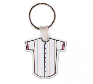 Baseball Jersey Soft Vinyl Keychain