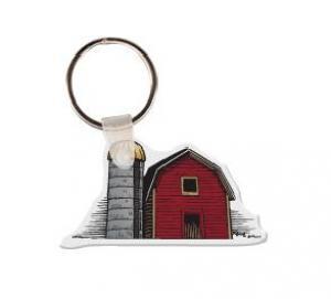 Barn Soft Vinyl Key Tag
