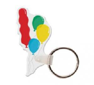 Balloons Vinyl Key Tag