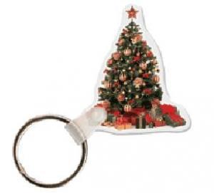 Christmas Tree Soft Vinyl Key Tag