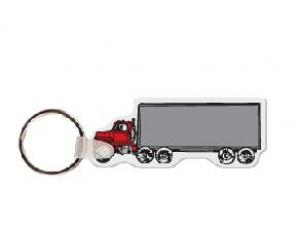 18 Wheeler  Soft Vinyl Key Tag