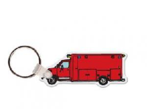 Ambulance Soft Vinyl Keychain