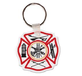Fireman Shield Soft Vinyl Keychain