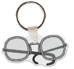 Glasses Soft Vinyl Keychain