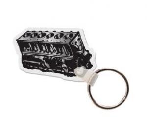 Engine Block Soft Vinyl Keychain