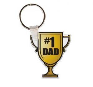 Father's Day Trophy Vinyl Key Tag