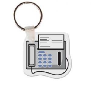 Fax Machine Vinyl Key Tag