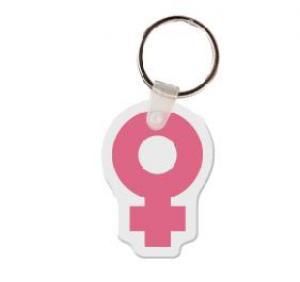 Female Symbol Vinyl Key Tag