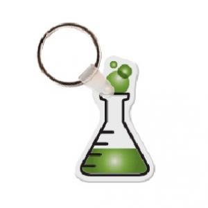 Lab Flask Soft Vinyl Key Tag