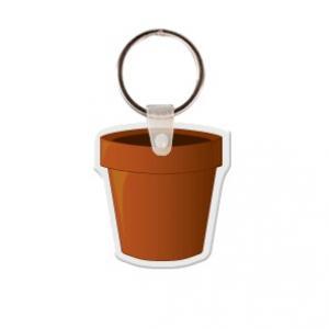 Flower Pot Soft Vinyl Key Tag