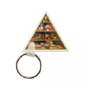 Food Pyramid Soft Vinyl Key Tag