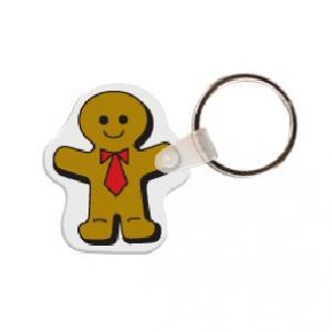 Gingerbread Man Soft Vinyl Key Tag