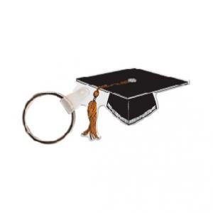 Graduation Cap Soft Vinyl Keychain