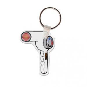 Hair Dryer Soft Vinyl Keychain