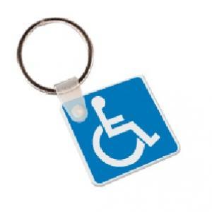 Handicap Sign Soft Vinyl Keychain