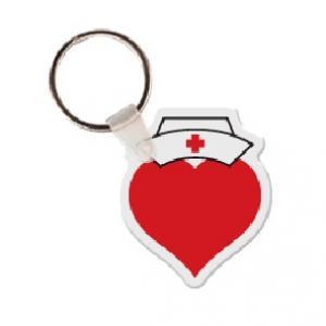 Heart with Nurse Hat Soft Vinyl Keychain