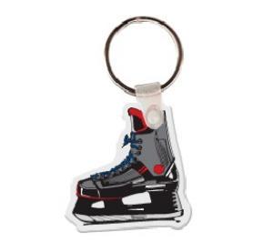 Hockey Ice Skate Vinyl Keychain