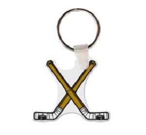 Hockey Sticks Vinyl Keychain