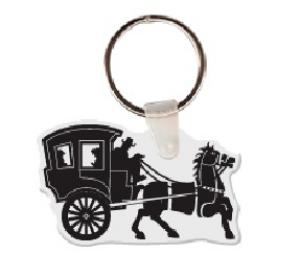 Horse and Buggy Vinyl Keychain