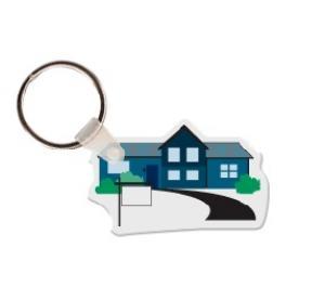 House with Sidewalk with  Vinyl Keychain