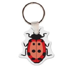 Lady Bug Soft Vinyl Keychain