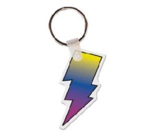 Lightning Bolt Soft Vinyl Keychain