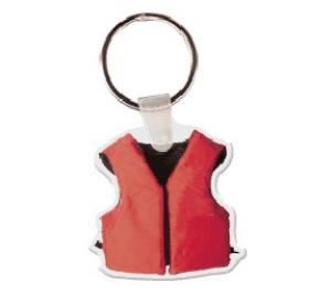 Life Jacket Soft Vinyl Keychain