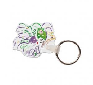 Mardi Gras Soft Vinyl Keychain