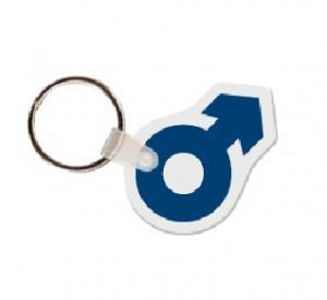 Male Symbol Soft Vinyl Keychain