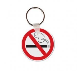No Smoking Vinyl Keychain
