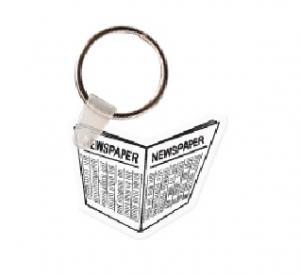 Newspaper Soft Vinyl Keychain