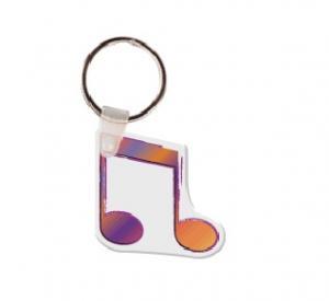 Music Note Soft Vinyl Keychain