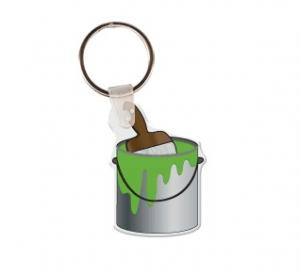 Paint Brush and Can Soft Vinyl Keychain