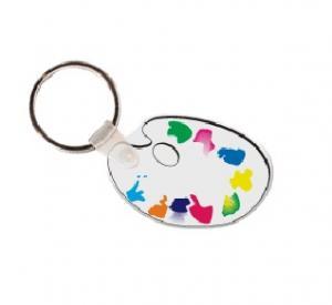 Paint Palette Soft Vinyl Keychain