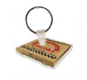 Pizza Box Soft Vinyl Key Tag