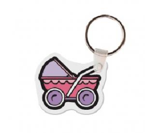 Baby Carriage Soft Vinyl Key Tag