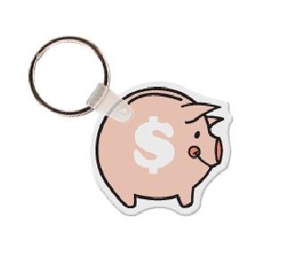 Piggy Bank Soft Vinyl Keychain
