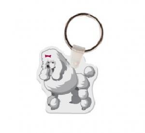 Poodle Soft Vinyl Keychain