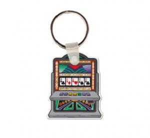 Slot Machine Soft Vinyl Keychain