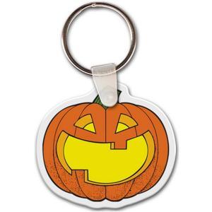 Pumpkin Vinyl Key Tag