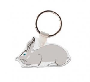 Rabbit Vinyl Key Tag