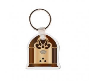 Old Fashioned Radio Soft Vinyl Keychain
