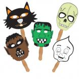 Halloween Creepy Characters Shaped Masks/Hand Fans