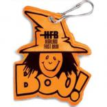 Boo! Witch Reflective Zipper Pull