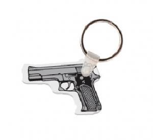 Pistol Soft Vinyl Key Tag