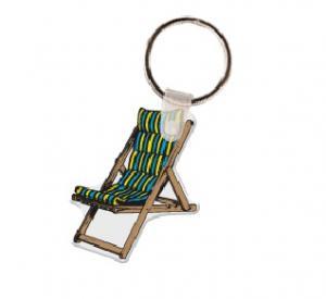 Lawn Chair Soft Vinyl Key Tag