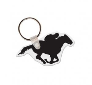 Horse with Rider Soft Vinyl Key Tag